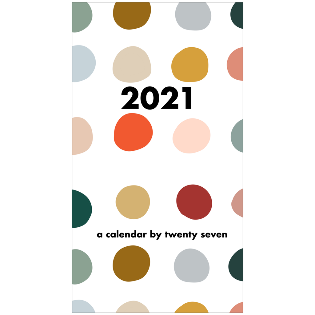 2021 Color Dot Wall Calendar