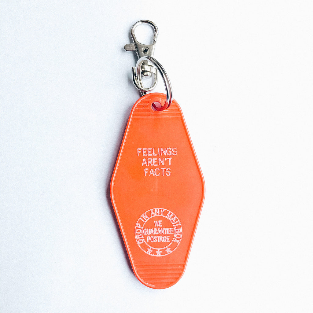 Feelings Aren't Facts Motel Keychain