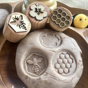 Bee Playdough Stamps Set of 5
