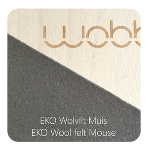 Wobbel Board Original with Felt - Mouse (dark grey) $295