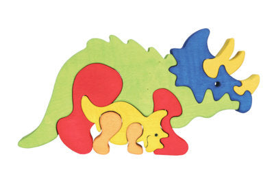 Fauna Dinosaur Triceratops wooden puzzle