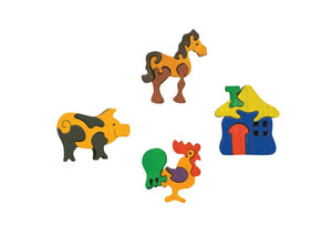 Fauna Farm wooden mini puzzle set