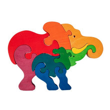 Load image into Gallery viewer, Fauna Elephant wooden puzzle