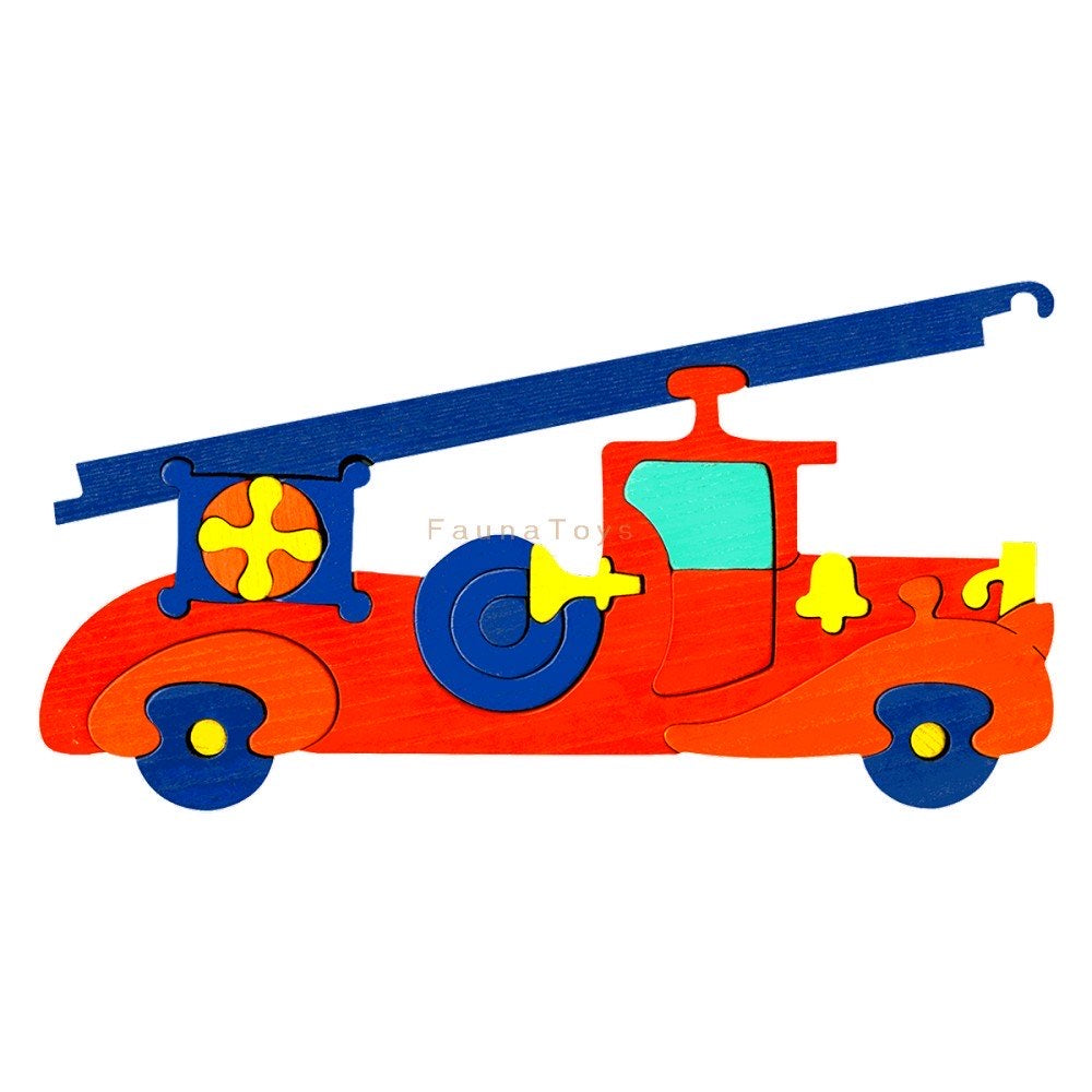Fauna Fire Engine Puzzle