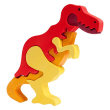 Load image into Gallery viewer, Fauna T-Rex Dinosaur Wooden Puzzle