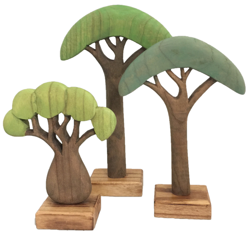 Papoose African Trees Coloured 3 Pce Set