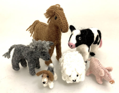 Papoose Country Animal Set 6 Piece Set
