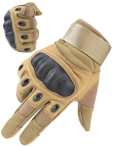 Riparo Men's Tactical Touchscreen Full-Finger Gloves - Sand
