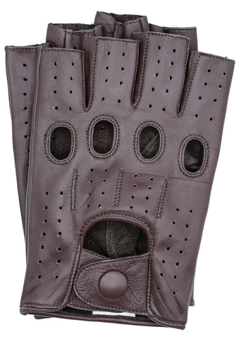 Riparo Men's Fingerless Driving Gloves - Brown