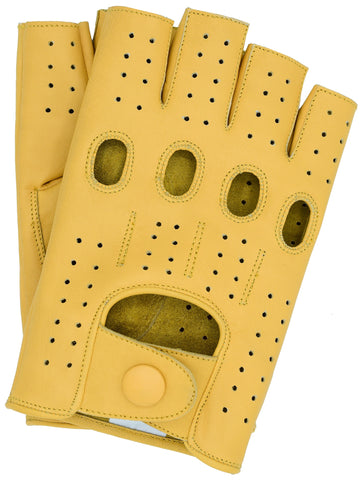 Riparo Men's Fingerless Driving Gloves - Camel