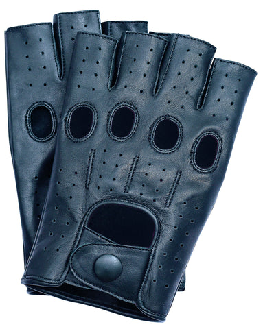 Riparo Men's Fingerless Driving Gloves - Black