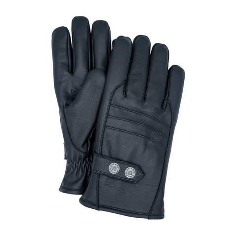 Riparo Genuine Leather Insulated Winter Gloves - Black