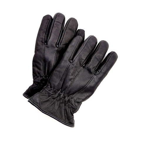 Riparo Genuine Leather Winter Insulated Gloves - Black