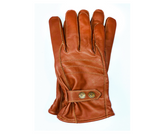 Riparo Genuine Leather Insulated Winter Gloves - Brown
