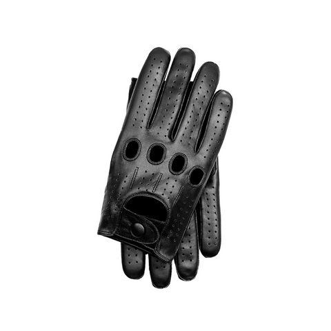 Riparo Men's Leather Touchscreen Texting Driving Gloves - Black
