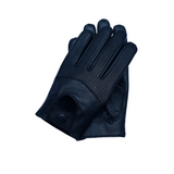 Riparo Men's Leather Half Mesh Driving Gloves - Black