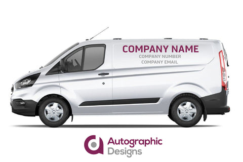 Medium Van Sign Writing Kit - Supply Only