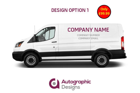 Large Van Sign Writing Kit - Supply Only