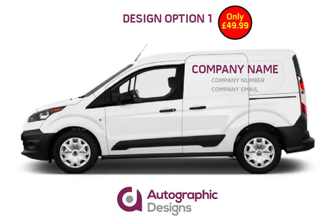 Tradesman Starter Kit: Small Van Sign Writing Kit & 2x Advertising Boards