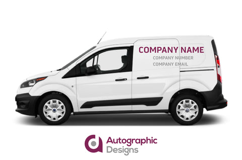 Small Van Sign Writing Kit - Supply Only