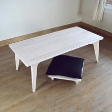 LOW Coffee Table Set 2-Piece WHITE: Pillow Lift