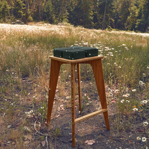 Bamboo Stool | Counter Stool | Work | Study | Craft | Dining | Accent | Natural Latex foam | Natural Fabric | Recycled Fabric | Organic Cotton, Hemp, Wool |Sustainable Furniture | Zero-Waste Furniture | Scandinavian, Contemporary, Mid-Century, Japanese Inspired | Made in CANADA