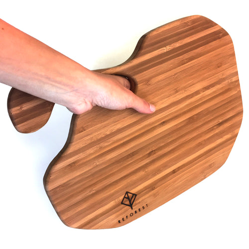 Reforest Ergonomic Bamboo Cutting Board or Serving Platter