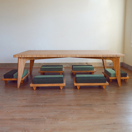 LOW Large Table Set 7-Piece: 6 LOW Long Seats