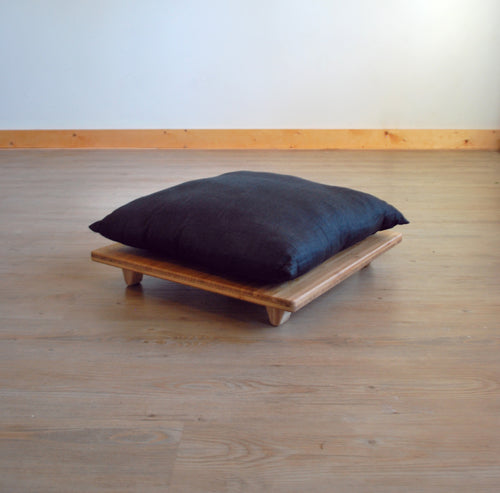 Pillow Lift | Floor Cushion | LOW Chairs | for LOW Table | LOW Seat | Bamboo | Meditation | Yoga | Work | Study | Craft | Dining | Accent |Sustainable Furniture | Zero-Waste Furniture | Scandinavian, Contemporary, Mid-Century, Japanese Inspired | Made in CANADA