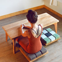 Set: Coffee Table | LOW Chairs | LOW Table | LOW Seat | Bamboo | Meditation | Yoga | Work | Study | Craft | Dining | Accent | Natural Latex foam | Natural Fabric | Recycled Fabric | Organic Cotton, Hemp, Wool |Sustainable Furniture | Zero-Waste Furniture | Scandinavian, Contemporary, Mid-Century, Japanese Inspired | Made in CANADA