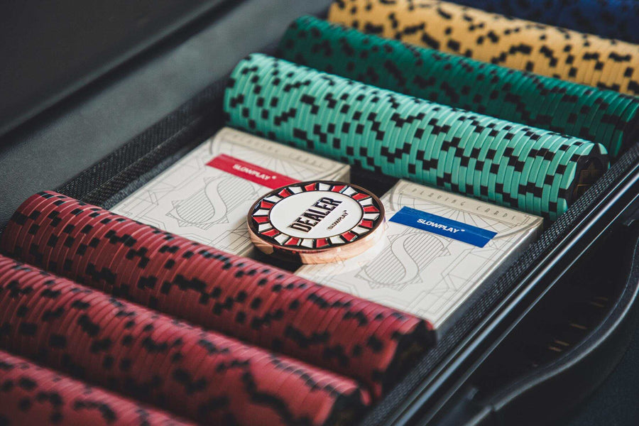 Nash Clay Poker Chip Set for Texas Hold'em | Exquisite Craftsmanship | SLOWPLAY