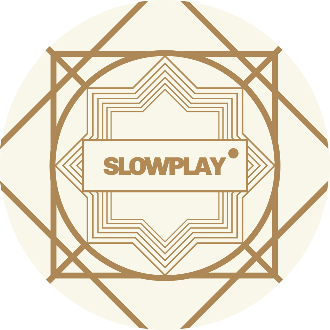Art Deco elements are featured in SLOWPLAY's design