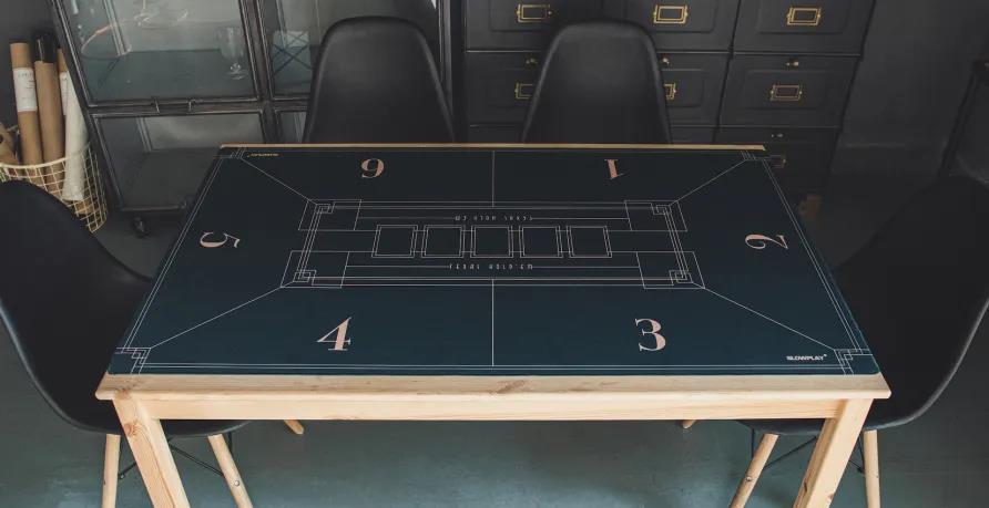 SLOWPLAY's Nash Poker Mat Features Organic Lines and Concise Geometric Composition