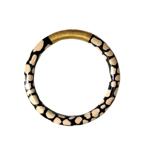 NEW! Linen & Black Print Bangle
