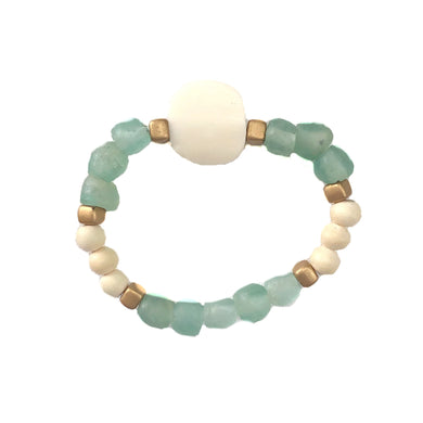 Seafoam Glass & Bone