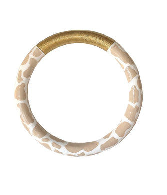 Print Two-Tone Bangle - 3 Color Options