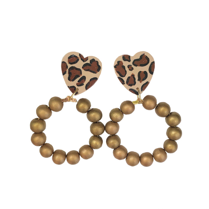 NEW! Cheetah Heart Hoops
