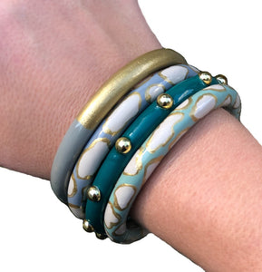 Solid Stud Bangles - 20 Color Options
