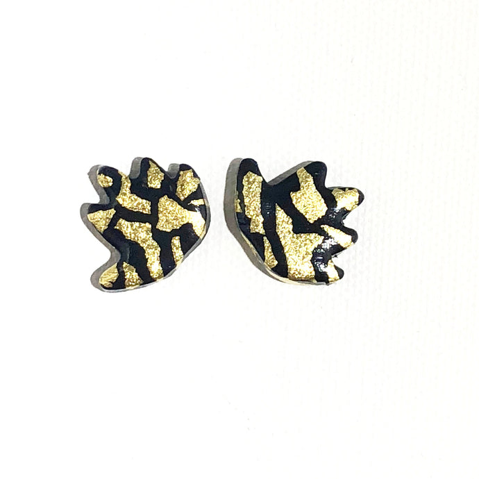 Small Angel Wings - Black & Gold