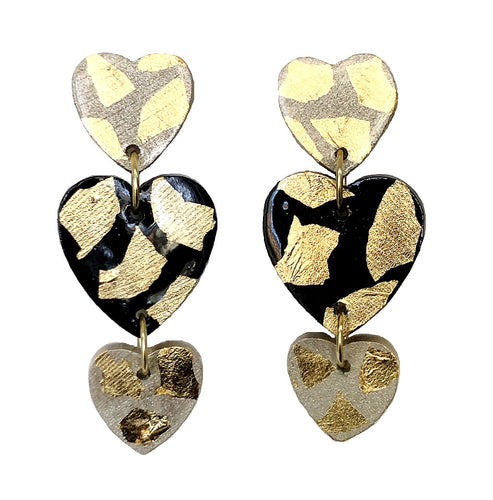 Black + Gold Hearts