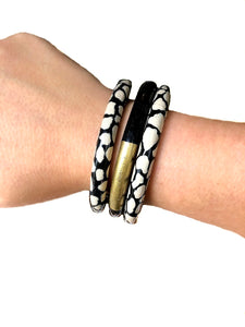 Solid Two-Tone Bangle