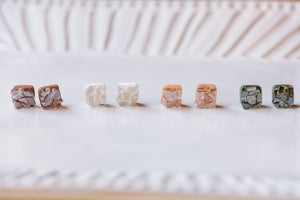 Mosaic Square Stud - 9 Color Options