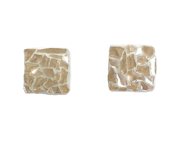Square Glass Stud