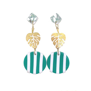 NEW! Teal Palm Leaf