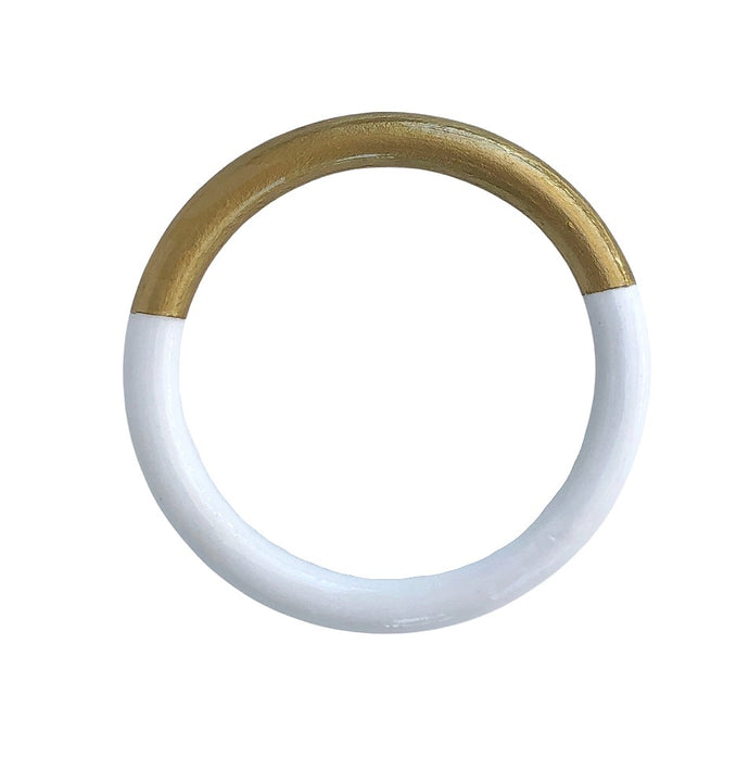 Solid Two-Tone Bangle - 4 Color Options
