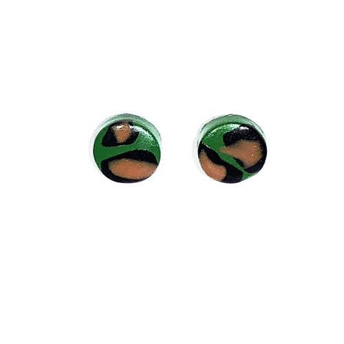 Small Button Stud - Green