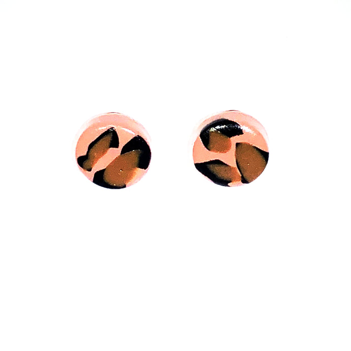 Small Button Stud - Pink