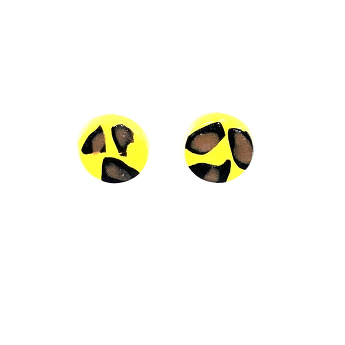 Small Button Stud - Yellow