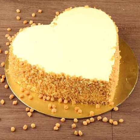 Butter Scotch Heart Cake