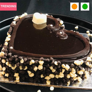 Choco Chips Heart Cake cake 100% FRESH CAKE | FREE DELIVERY